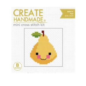 Create Handmade Cross Stitch Kit Beginner PEAR 6x6cm