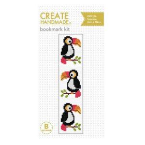 Create Handmade Cross Stitch Bookmark Kit Beginner TOUCANS 20x5cm