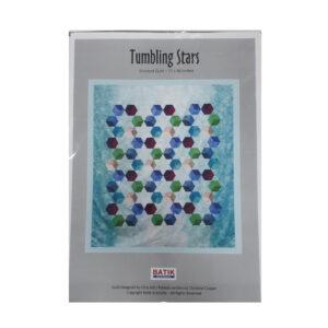 Quilting Sewing Quilt Pattern TUMBLING STARS Patchwork Pattern Batik Australia