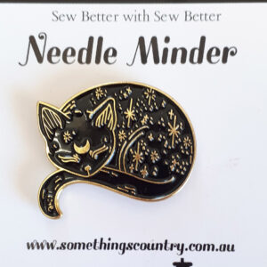 Sew Better Cross Stitch Needle Minder Keeper SLEEPING CAT