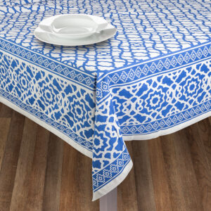 French Country Table Cloth RANS VINTAGE INDIGO Tablecloth 150x260cm