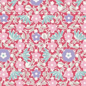 Quilting Patchwork Fabric TILDA BON VOYAGE ALLISON RED 50x55cm FQ