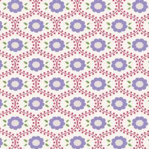 Quilting Patchwork Fabric TILDA BON VOYAGE ELSIE RED 50x55cm FQ