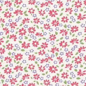 Quilting Patchwork Fabric TILDA BON VOYAGE LELIT RED 50x55cm FQ