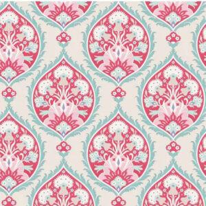 Quilting Patchwork Fabric TILDA BON VOYAGE FLOWERLEAF RED 50x55cm FQ