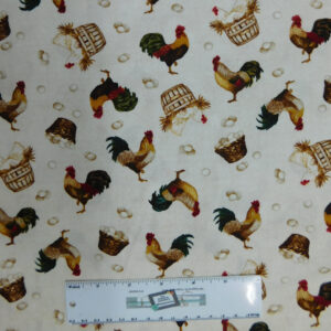 Quilting Patchwork Fabric COUNT YOUR CHICKENS 50x55cm FQ