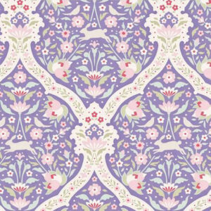 Quilting Patchwork Fabric TILDA BON VOYAGE HARE TILE BLUE 50x55cm FQ