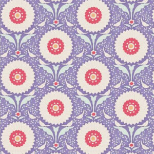Quilting Patchwork Fabric TILDA BON VOYAGE RINGFLOWER BLUE 50x55cm FQ