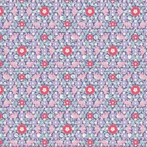 Quilting Patchwork Fabric TILDA BON VOYAGE ALLISON BLUE 50x55cm FQ