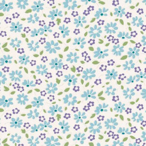 Quilting Patchwork Fabric TILDA BON VOYAGE LILIT TEAL 50x55cm FQ