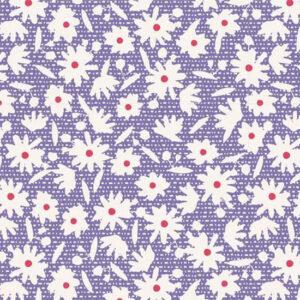 Quilting Patchwork Fabric TILDA BON VOYAGE PAPERFLOWER BLUE 50x55cm FQ
