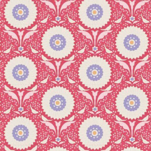 Quilting Patchwork Fabric TILDA BON VOYAGE FLOWERLEAF BLUE 50x55cm FQ