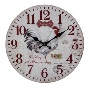 Clocks Wall Hanging Le Coq a Plum Rooster Clock 34cm
