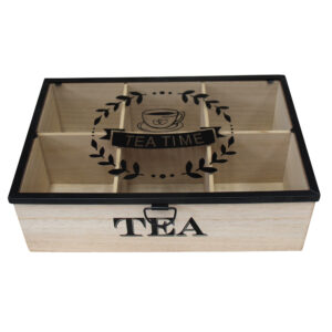 French Country Tea Bag Box Tea Time Timber Wood Teabag Holder