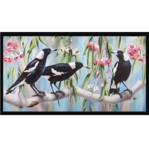 Patchwork Quilting Sewing Fabric MAGPIES Panel 59x110cm