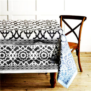 French Country Table Cloth RANS VINTAGE BLACK Tablecloth 150x260cm