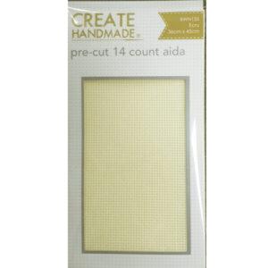 Create Handmade Cross Stitch Aida Cloth 14 Count ECRU LEMON Size 36x45cm