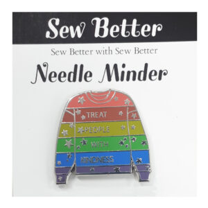 Sew Better Cross Stitch Needle Minder Keeper TREAT PEOPLE WITH KINDNESS