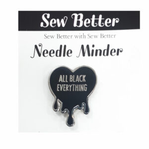 Sew Better Cross Stitch Needle Minder Keeper ALL BLACK EVERYTHING
