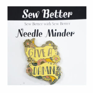 Sew Better Cross Stitch Needle Minder Keeper GIVE A DAMN