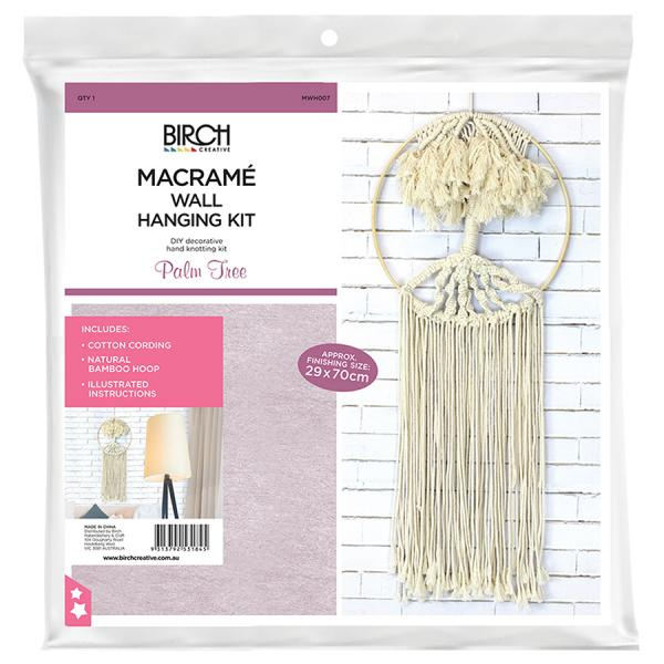 Creative Macrame Kit PALM TREE Make your Own Wall Hanging