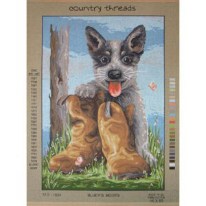 Country Threads Tapestry Printed BLUEYS BOOTS TFJ-1024