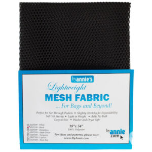 Quilting Sewing Patchwork By Annie Lightweight Mesh Fabric Black Pack