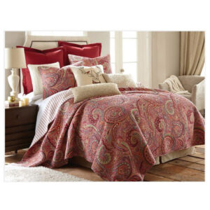 French Country Patchwork Bed Quilt BOSTON Throw Coverlet