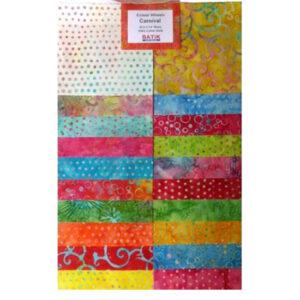 Quilting LAYER CAKE Patchwork Batik Australia CARNIVAL 10 Inch Fabrics