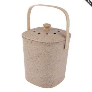 Eco Friendly Kitchen Scraps Compost Bucket NATURAL Bamboo Fibre