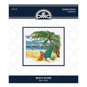 DMC Cross X Stitch Kit BEACH SCENE 22x20cm 577112