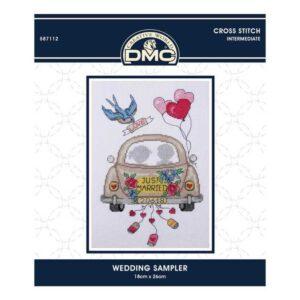 DMC Cross X Stitch Kit WEDDING SAMPLER 18x26cm 587112