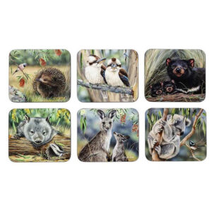 Dining Kitchen Fauna of Australia Cork Backed Placemats Set 6