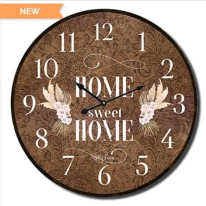 Clocks Wall Hanging BISMARK Home Sweet Home Clock 22cm