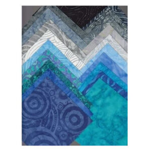 Quilting CHARM PACK Patchwork Batik Australia SEA SPRAY 5 Inch Fabrics