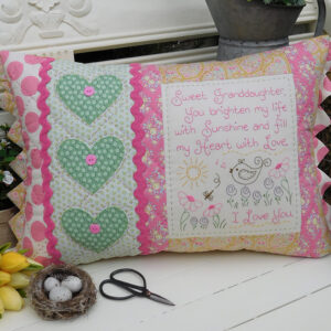 Quilting Sewing Cushion Pattern SWEET GRANDDAUGHTER Rivendale Collection