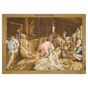 Country Threads Tapestry Printed SHEARING THE RAMS TFJ-4003