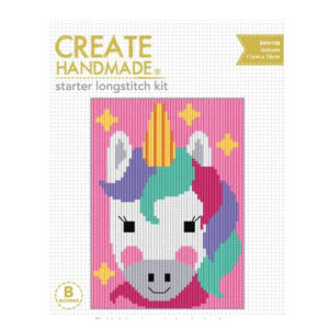 CREATE HANDMADE Long Stitch Kit Kids Beginner UNICORN 15x11cm