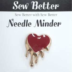 Sew Better Cross Stitch Needle Minder Keeper BLEEDING HEART