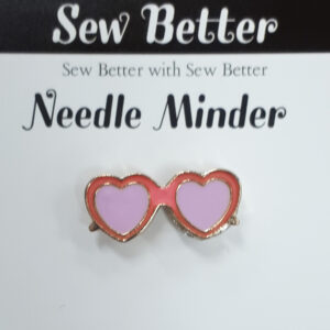Sew Better Cross Stitch Needle Minder Keeper HEART SUNGLASSES