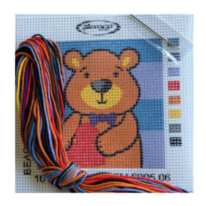 Country Threads Tapestry Printed BEAR Kit Incl Threads SEM.6005.06