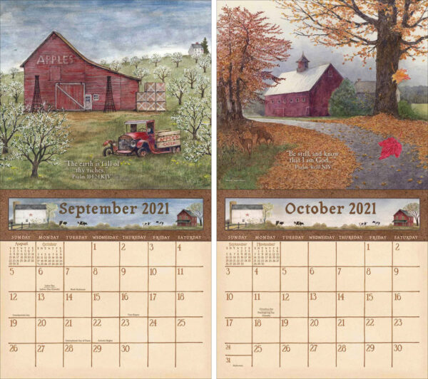 Legacy 2021 Calendar COUNTRY BLESSINGS Calender Fits Lang Wall Frame