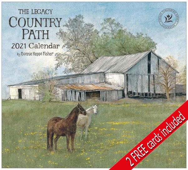 Legacy 2021 Calendar COUNTRY PATH Calender Fits Lang Wall Frame