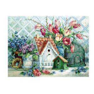 5D Diamond Painting Full Image Squares BIRDHOUSE GARDEN 40x50cm