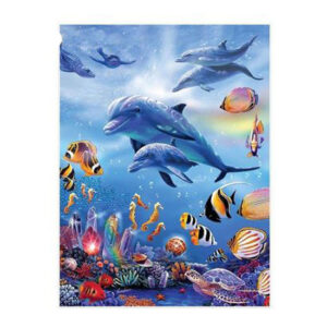 5D Diamond Painting Full Image Square Drills SWIMMING DOLPHINS 40x30cm