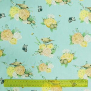 Quilting Patchwork Fabric NATIVE NURSERY BIRDS 50x55cm FQ Material