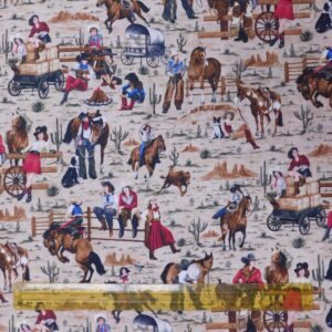 Quilting Patchwork Fabric COWGIRL SPIRIT 50x55cm FQ Material