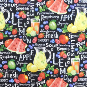 Quilting Patchwork Fabric MIXED FRUIT PUNCH 50x55cm FQ Material