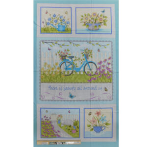 Patchwork Quilting Sewing Fabric BUTTERFLY GARDEN Panel 60x110cm Material