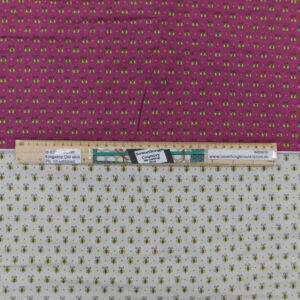Patchwork Quilting Sewing Fabric TWO TONES BEES Panel 50x110cm 1/2meter Cut
